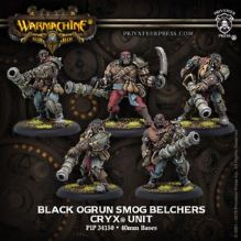 Black Ogrun Smog Belchers Cryx Unit (resin/metal)